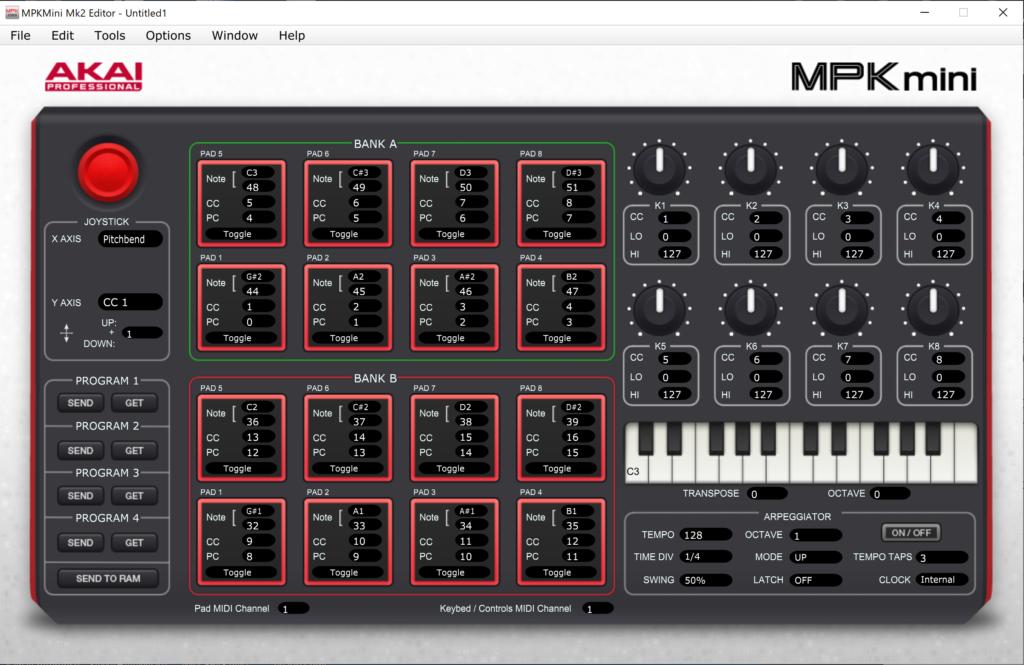 MPK mini MK2 エディター